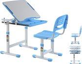 Kinderbureau met bureaustoel ergonomisch in hoogte verstelbaar - tekentafel - schooltafel