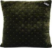 Kolony® Kussen 45 x 45 cm   Groen velours