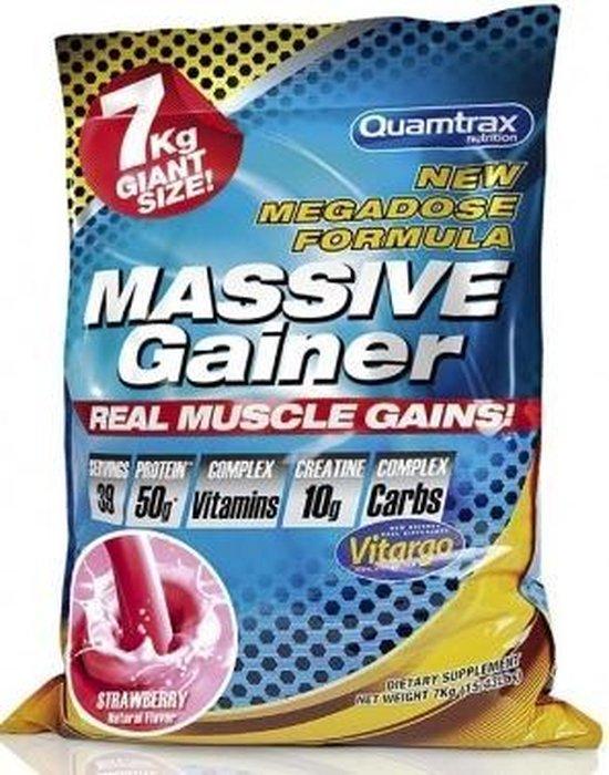 Massive Gainer - 7KG - Quamtrax (Aardbeien smaak)