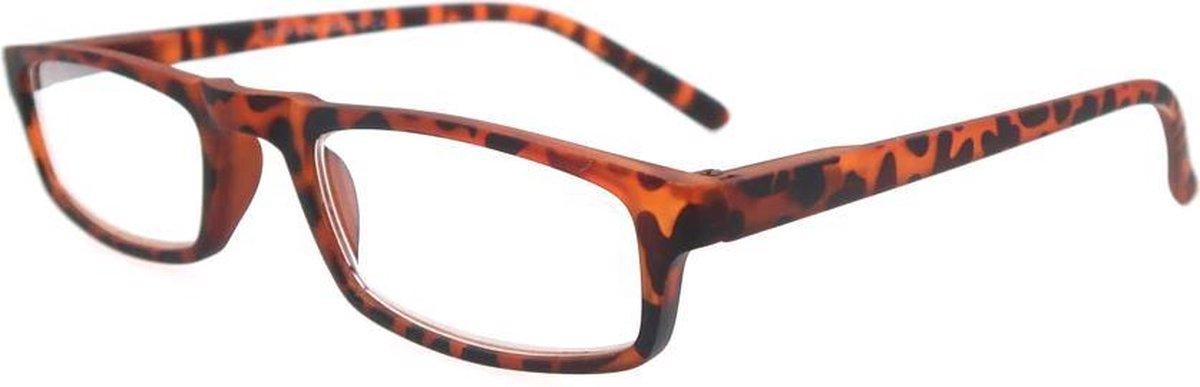 Leesbril +3.0 Dpt Plastic Tijgerprint Dames kopen