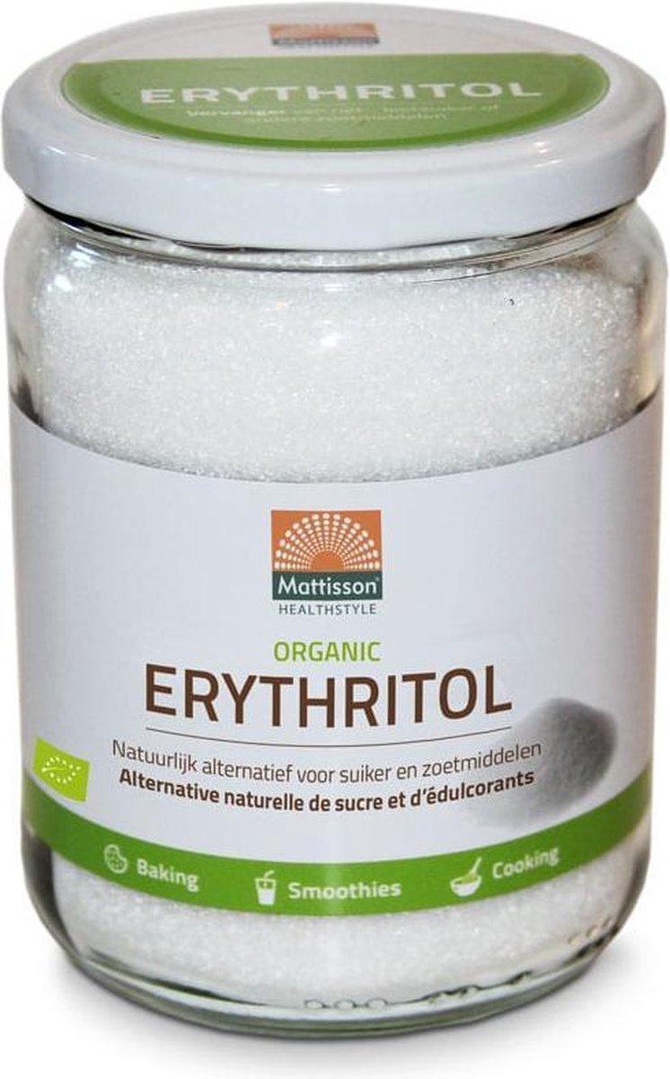 Erythritol Mattisson - Pot 400 gram - Biologisch