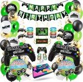 Fissaly® 87 Stuks Video Game Verjaardag Versiering Set met Fortnite Dansjes Ballonnen – Feestversiering – Feestartikelen & Feestpakket