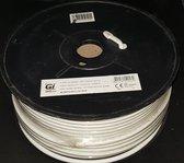 GI Galaxy Innovations 48% Wire Braide High Quality COAX Cable RG6U-100meter on wheel.