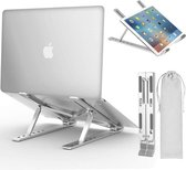Universele Verstelbare & Opvouwbare Laptop Standaard - Anti slip - Aluminium