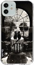 Apple iPhone 12 / iPhone 12 Pro hoesje Room Skull BW Casetastic Smartphone Hoesje softcover case