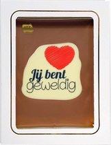 Tosca Chocolade cadeau Jij bent geweldig 150 gram