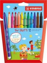 STABILO Trio FRUTTI - Viltstift - Iedere Stift Een Eigen Geur - Etui Met 12 Kleuren