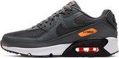 NIKE AIR MAX 90 GS Unisex Sneakers - Iron/Grey/Black/Orange - Maat 38