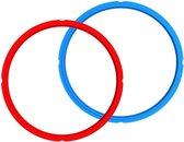 Instant Pot Sealing ring 6L (2 stuks, rood, blauw)