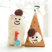 Fluff - Kerst Sokken | Sneeuwpop | Piramide Doos
