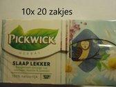 Pickwick thee - Slaap lekker (valeriaan, kamille, lavendel) - multipak 10x 20 stuks
