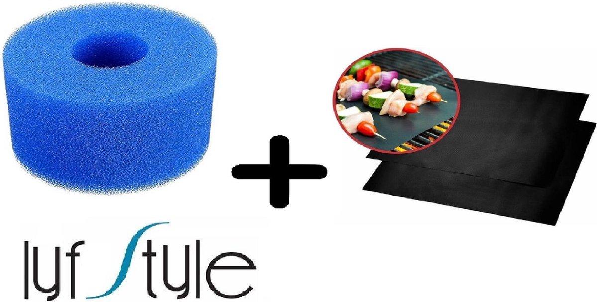 Jacuzzi Filter Type S1 of VI - Herbruikbaar en Uitwasbaar! - Voor Intex en Lay Z Spa + 1 Oven/Grill/BBQ Matje! (Actie! )& Serviceboek Wateronderhoud!