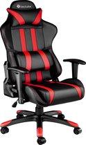 Tectake Gamingstoel Bureaustoel - Premium racing style - Zwart/rood