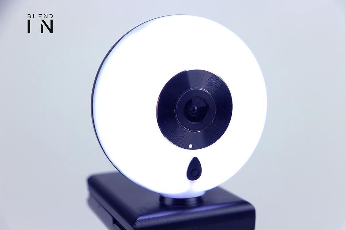 FHD 2K USB Webcam met licht ring - met ingebouwde microfoon - Autofocus - voor PC & game console - Twitch Skype