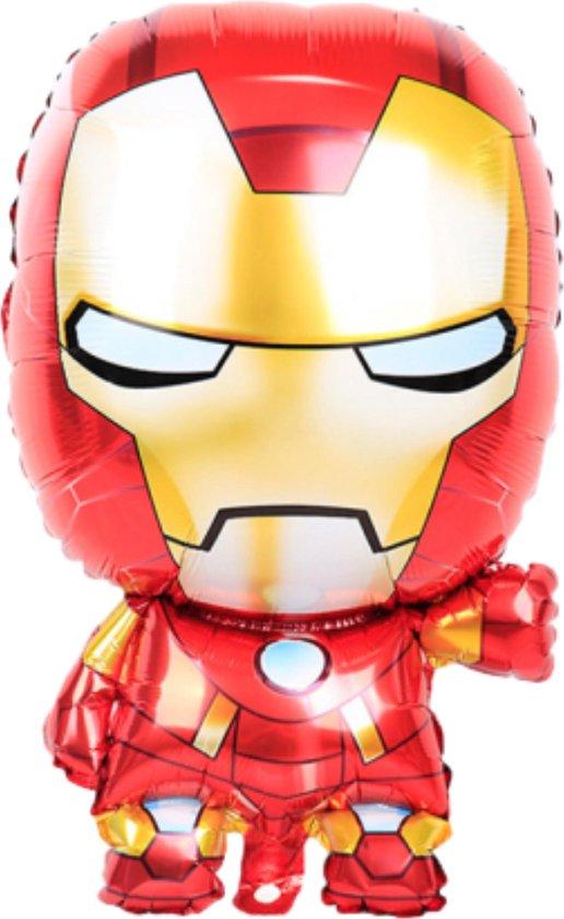 Iron Man Ballon - 70 x 46 cm Groot - Marvel Avengers - Ballonnen - Marvel Speelgoed