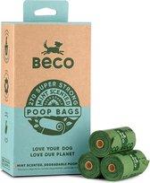 Beco Pets Afbreekbare Hondenpoepzakjes - Mint Geur - 270 stuks (18 x 15)
