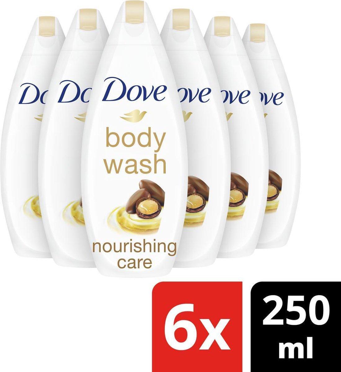 Dove Nourishing Oil & Care Douchegel - 6 x 250ml - Voordeelverpakking