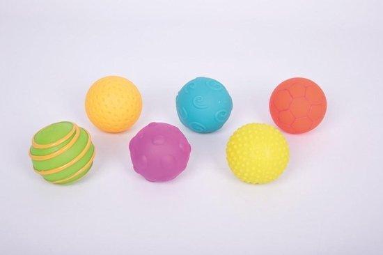Afbeelding van het spel Sensorische Textuur-Ballen - Set van 6