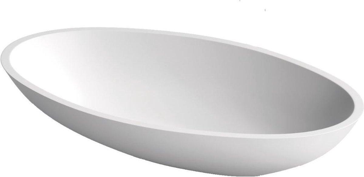 Composiet opzet waskom Madrid 53,5x31,5cm ovaal wit