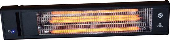 Terrasverwarmer 1800 watt ideaal voor onder een overkapping, veranda of op je terras - terrasverwarming, muurmontage