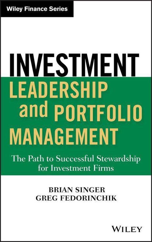 Boek cover Investment Leadership and Portfolio Management van Brian D. Singer (Onbekend)