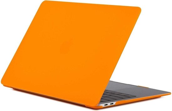 Hardcover Case Cover Voor Apple Macbook Air 13.3 Inch 2018/2019/2020 (A1932/A2179/A2337) Hard Shell Hoes - Notebook Sleeve Skin Protector Hardshell - Hardcase Beschermhoes - Mat - Oranje