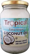 Tropical Extra Virgin Kokosolie 100% Biologisch en Koudgeperst - Premium Quality - Huid Haar Gezichtsverzorging, Gezondheid en Voeding - 500 ml