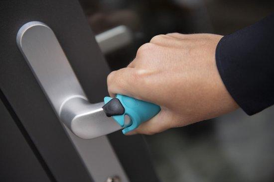 Gripz zwart duo, handkapje en geen mondkapje, hygiëne, handhygiëne, preventie, schone handen, voor winkelwagentjes, -mandjes, deurklink, touchscreens, lift, in het OV, bij het pinautomaat etc.| 2 stuks.