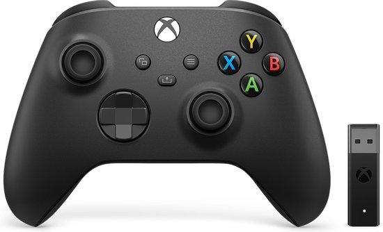 Xbox Draadloze Controller + Draadloze Adapter voor Windows 10