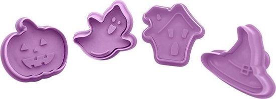 Koekjes Uitstekers - 4-delige Set Halloween - Koekjes Vormen - Cookie cutter - Uitsteekvormpjes