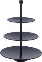 Relaxwonen - Etagere met 3 verdiepingen - Matte Zwart - Metaal