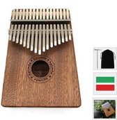 Kalimba - Duimpiano 17 Tonen - Mbira Muziekinstrument - Kalimba + GRATIS Tas & Accessoires
