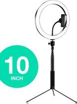 MADA Vision - 10 inch - Ringlamp met statief - 160 cm - TikTok, Youtube, Instagram, Vlog, Studiolamp