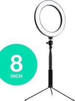 MADA Vision - 8 inch - Ringlamp met statief - 130 cm - TikTok, Youtube, Instagram, Vlog, Studiolamp