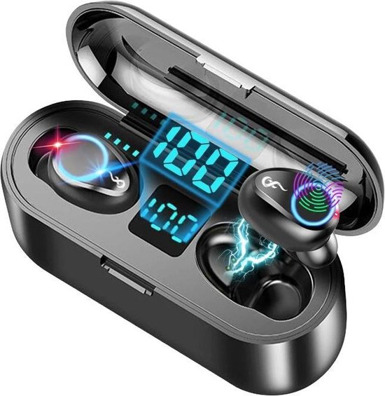 Oordopjes Draadloos - Oortjes Draadloos - Sport Oordopjes - Oortjes Bluetooth - Alternatief Airpods & Galaxy Buds -