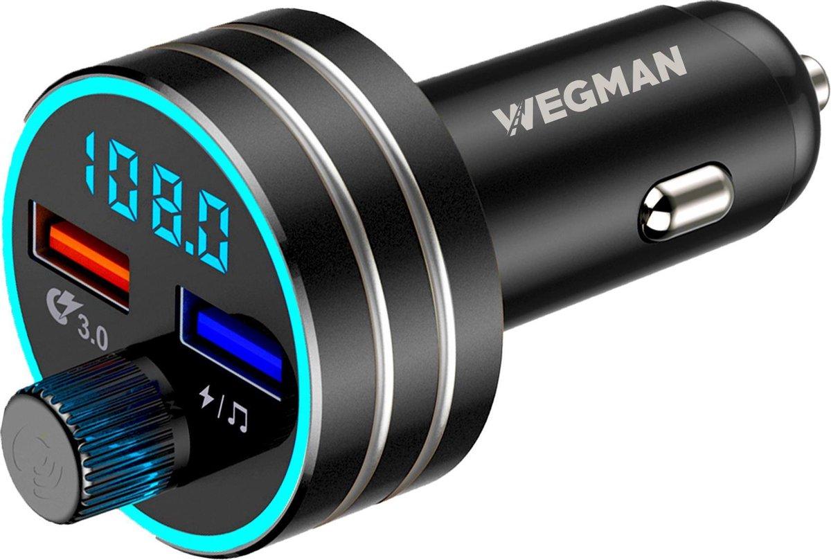 Wegman Bluetooth FM Transmitter - Snellader - Carkit - Autoradio - Bluetooth Audio Receiver