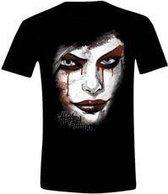 Batman: Arkam Knight - Harley Quinn Face Mannen T-Shirt - Zwart - XXL