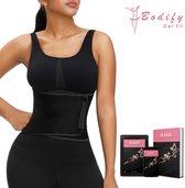 Bodify® Afslankband-Incl. E-Book-Zweetband-Sauna Belt-Sweat Belt-Waist Trainer-Waist Shaper-Shapewear Dames-One Size-Zwart