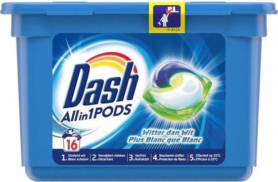 Dash Wasmiddel All in 1 pods Witter dan wit - 16 pods