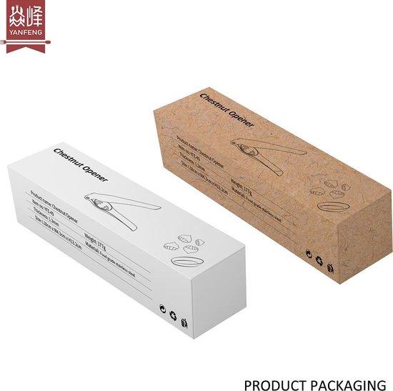 Noten - Walnootkraker - Walnotenkraker  - Kastanje -Roestvrij staal - Nutcracker - Krakers - Kerst  - Metallic - 18 cm