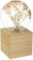 Atmosphera lamp gedroogde bloemen hout - LED - H17 cm - Tafellamp - Nachtlamp - Sfeerverlichting