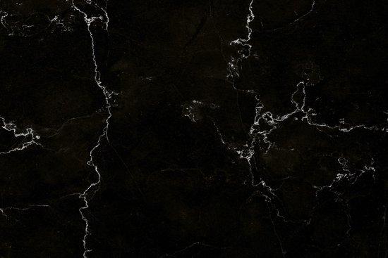 Inductie Beschermer Exclusief - Marmer Zwart print 90x52 cm