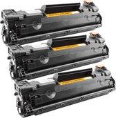 Toner cartridge / Alternatief multipack HP 3 x CE285A  CB435A CB436A