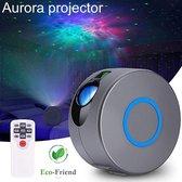 Aurora Projector - Sterren Projector - Nachtlampje - Nachtlampje kinderen - Star Projector - Galaxy projector - Sterrenhemel Projector - Projector - Discolamp - Star light projector - Sterrenlamp - Sterren hemel - Nachtlamp - Grijs