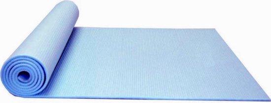Dobeno Yoga Mat - Stretch - Blauw - met Opbergkoord