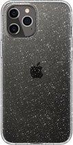 Spigen - iPhone 12 Hoesje - Back Case Liquid Crystal Glitter Transparant