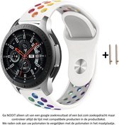 Wit Regenboog Siliconen sporthorlogebandje voor 22mm Smartwatches van...