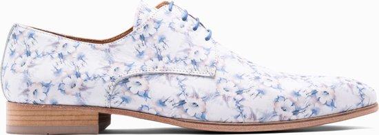 Paulo Bellini Dress Shoe Carbonia Leather Blue/White