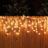 IJspegel - warm wit lichtgordijn - 200 LED - 7 meter - binnen en buiten