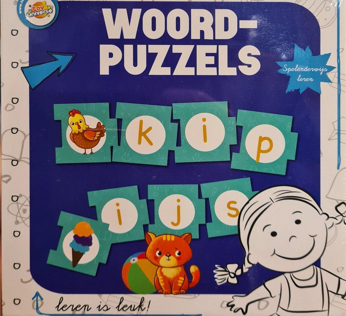 Woord Puzzels - Leren is leuk 30 Stuks in doos - Blauw